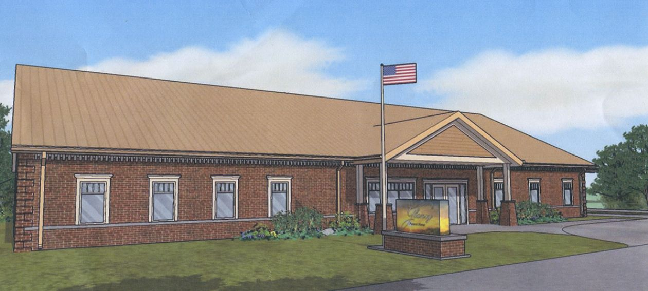 Downing and glancy building new funeral home in geneva for Funeral home building plans